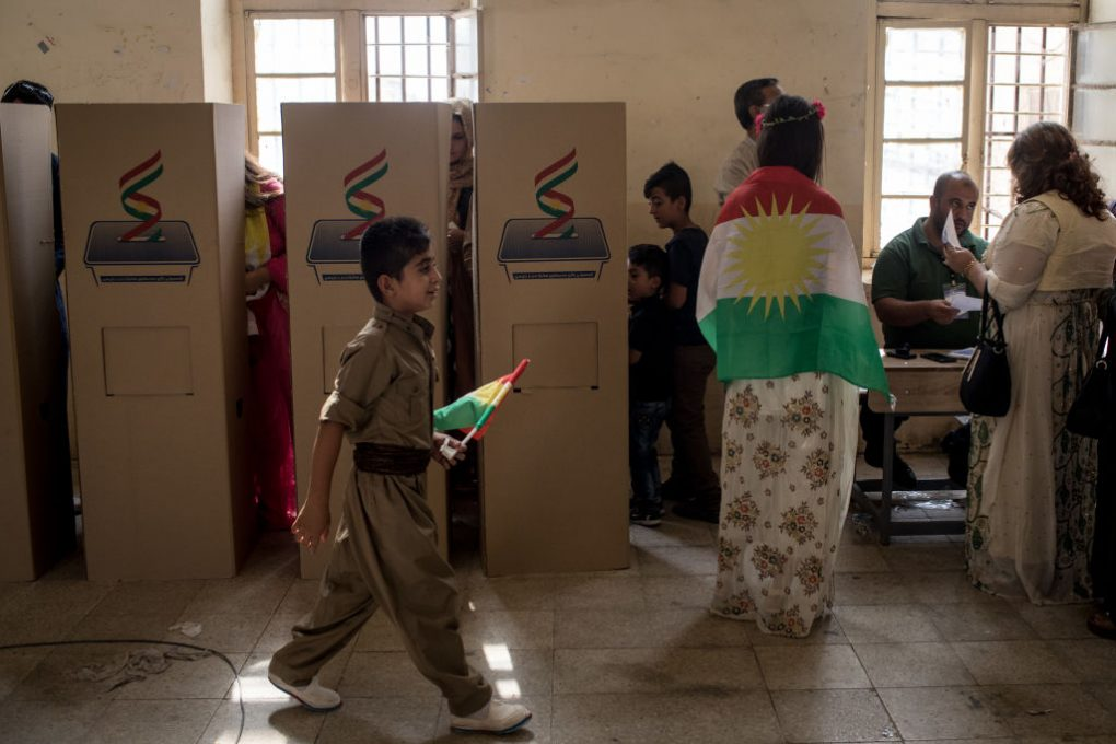 Kurds cast ballots in Kirkuk