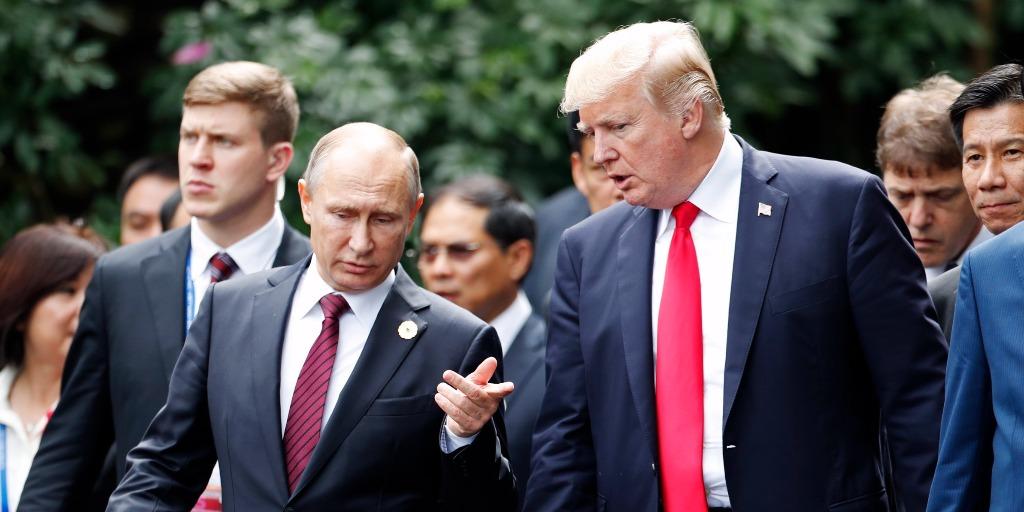 President Trump and Vladimir Putin