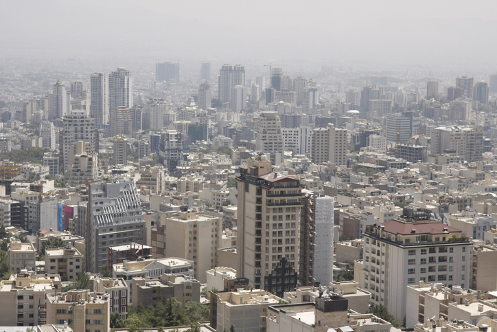 View of Northern Tehran, Iran