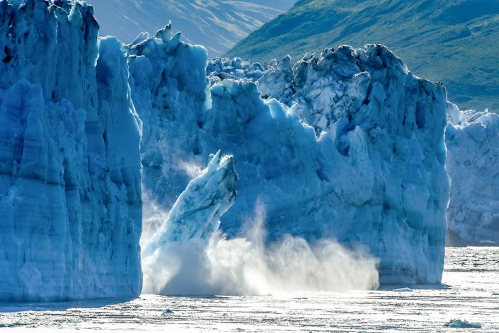 Calving Glacier Alaska