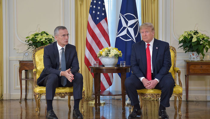 NATO Secretary General Jens Stoltenberg meets with US President Donald Trump