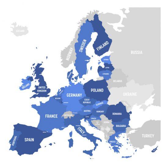 MapofWesternEurope e1580305698899 - OSINT Trendline Report – Western Europe