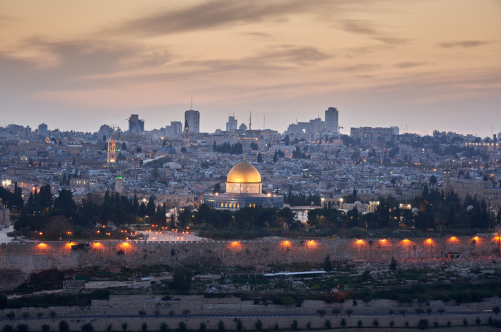Jerusalem Sunset Al Aqsa Mosque Israel